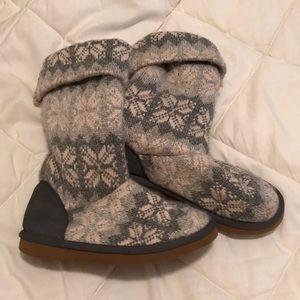 Women's Snuggle Faux Fur lined wool boots. Sz 7
